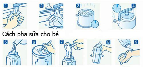 Cách pha sữa Vita IQ Gold 3 & Hướng dẫn sử dụng | GIASUABOT.COM