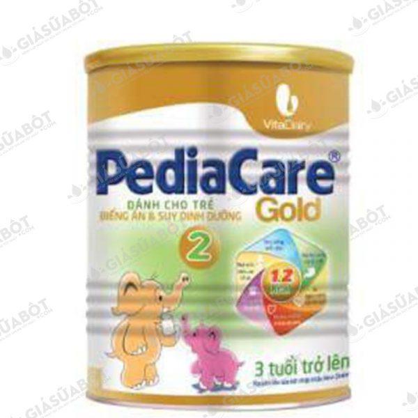 Sữa PediaCare Gold 2 (hộp thiếc 900g) dành cho trẻ trên 03 tuổi