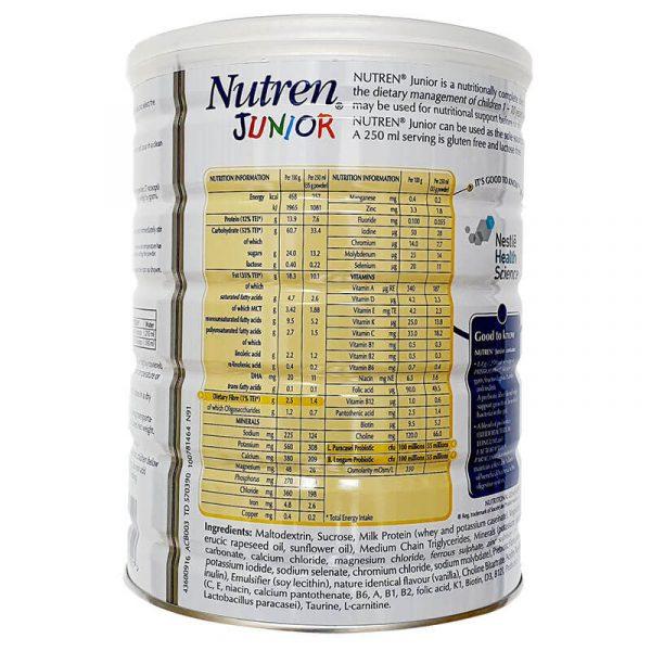 Sữa Nutren Junior Nestle Thụy Sĩ 800g