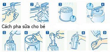 Cách pha sữa P100 900g và 400g