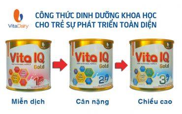 Sữa Vita IQ Gold dinh dưỡng hoàn hảo cho sự phát triển của trẻ