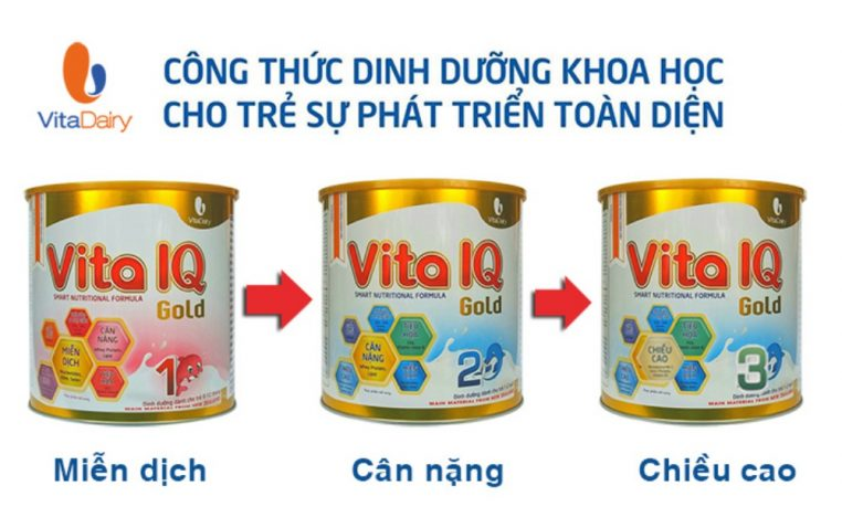 Sữa Vita IQ Gold trên thị trường có mấy loại? Giá bao nhiêu?